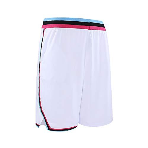 NIUPUPU Pantalones Cortos de Baloncesto para Hombre NBA Miami Heat Fitness Pantalones Cortos para Correr Gimnasio Ropa Informal Pantalones Cortos de Entrenamiento XXS-5XL