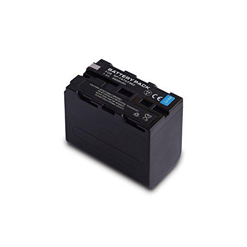 NP F975, NP F970, NP F960, NP F950 2X Replacement Li-ion for Sony DCM-M1 MVC-CD1000 HDR-FX1 DCR-VX2100E DSR-PD190P NEX-FS700RH HXR-NX3 (Dual Battery)