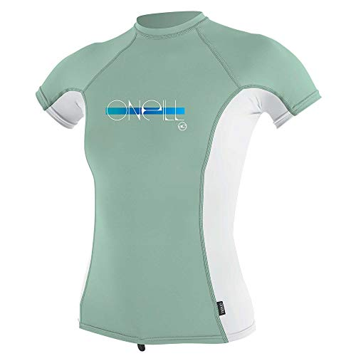 O'Neill Mädchen Premium Skins LSF 50+ Short Sleeve Rash Guard, Fresh Mint/White/Fresh Mint, 12