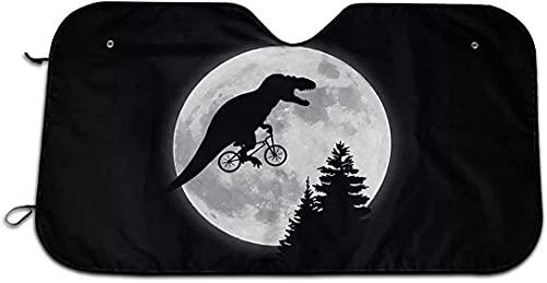 IUBBKI Parasol plegable con diseño de dinosaurio, luna, para coche, protección contra rayos ultravioleta, para ventanilla frontal, 130 x 69 cm