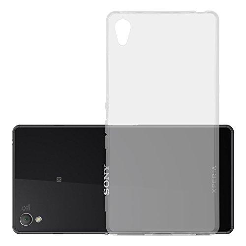 Cadorabo Custodia per Sony Xperia Z3 Plus / Z4 in Transparente - Morbida Cover Protettiva Sottile di Silicone TPU con Bordo Protezione - Ultra Slim Case Antiurto Gel Back Bumper Guscio