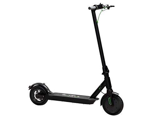 Monopattino Elettrico VELOCIPTOR ES 85W - Scooter Pieghevole con Potente Motore da 350w, Velocità Massima fino a 25 km/h, Telaio in Alluminio, Ruote Solide da...