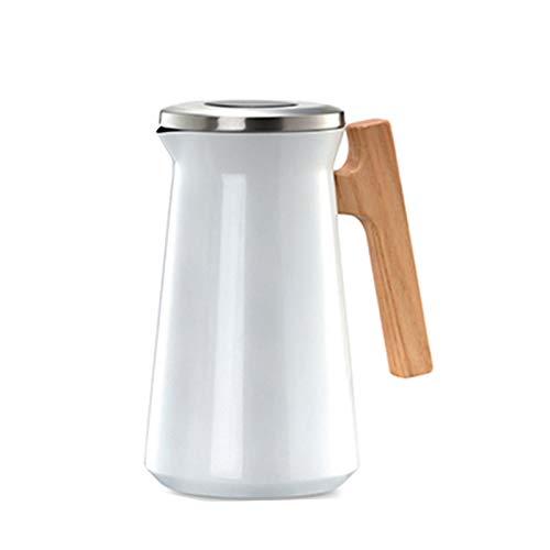 Jarra Térmica de Acero Inoxidable 1L El Té Y El Café Termos de Café Termo 304 Aspirar Termo Anti-Goteo Anti-Quemaduras 24 Horas de Retención de Calor Frío Retención