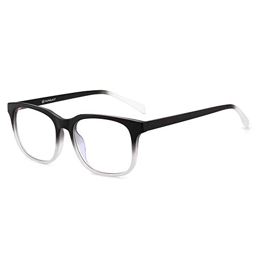 SUNGAIT Gafas para Anti luz Azul, para Computadora, Lectura, Video Juegos,Potente Filtro de luz Azul ,Gris degradad