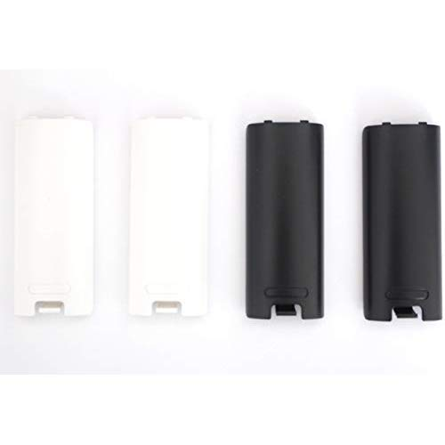 Replacement Battery Cover For Nintendo Wii Remote X 4 (Black and White) by Mars Devices