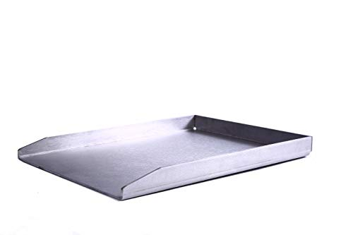 Shoptec Stahl-Manufaktur Grillplatte/Plancha 300x200 massiv Edelstahl