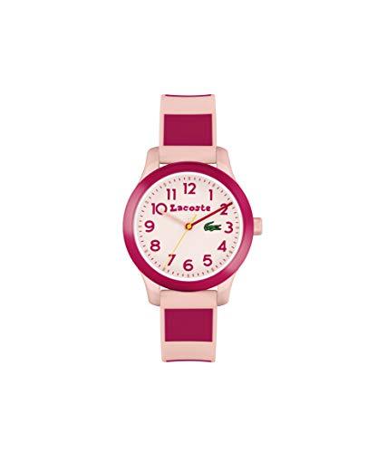 Lacoste Kids' Quartz Watch Strap, Pink Silicone, 14 (Model: 2030034)