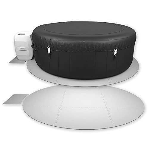 Interlocking Round Hot Tub Floor Protector, EXTRA THICK 10 Piece...