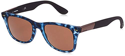 Diesel Sonnenbrille DL0173 55F 52 Gafas de sol, Azul (Blau), 52.0 Unisex Adulto
