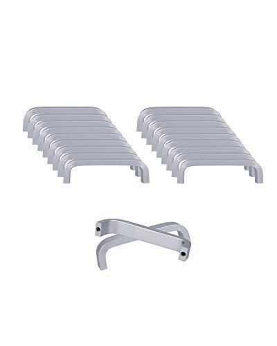 SPDYCESS 20 Piezas Tirador de Aleación de Aluminio Tiradores para Muebles Cajones Armario Alacenas Palancas de Puerta(Distancia del Agujero 64MM)