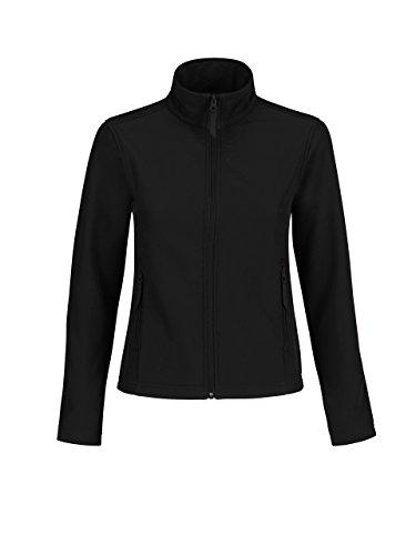 B&C B & C Damen Softshell Jacke Gr. XXL, Black/Black Lining