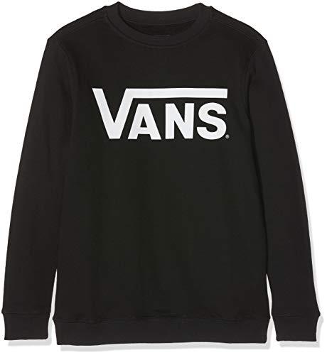 Vans Jungen CLASSIC CREW Sweatshirt, Schwarz (Black-White Y28), 128 (S)