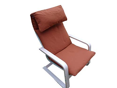 Kissen für Schaukelstuhl Typ Pello oder Poang IKEA. Hergestellt aus hochwertigem Polsterstoff. Sitz 57 x 50 Rücken 57 x 70, 8 cm dick (Rot)