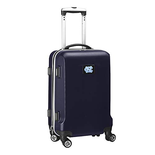 Denco NCAA North Carolina Tar Heels Carry-On Hardcase Luggage Spinner, Navy
