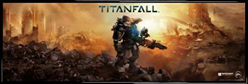 1art1 Titanfall Póster Puerta Marco Plástico - Cover