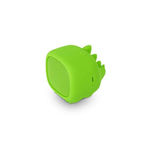 SPC Sound Pups Altavoz Bluetooth con Forma de Dinosaurio, Verde