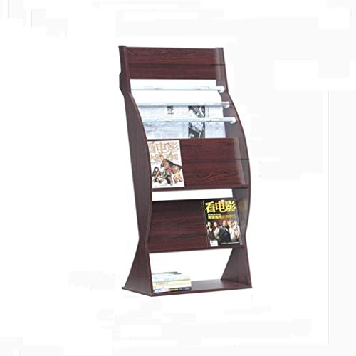 ZBM-ZBM 4A Magazine Rack, Brochure Display Magazine Literatuur Stand Pop-up Solid Wood Rack Office (Kleur: Walnut) Multi-Layer Reclame Rack