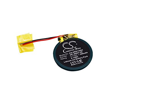 TECHTEK batería sustituye 361-00047-00, para 361-00064-00 Compatible con [Garmin] Approach S1, Approach S3, Approach S4, Forerunner 110, Forerunner 210, Forerunner 210W, Forerunner S1, Forerunner S1W