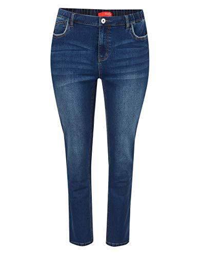 THEA by Adler Mode Damen 5-Pocket-Jeans Blue Denim 60