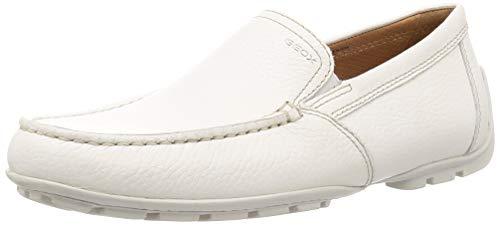 Geox Herren U Moner V Mokassin, Blanc (White C1001), 43 EU