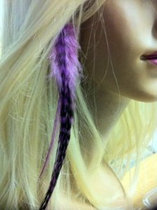 Our shop most popular Feather Hair Extension Purple on trust App Clip
