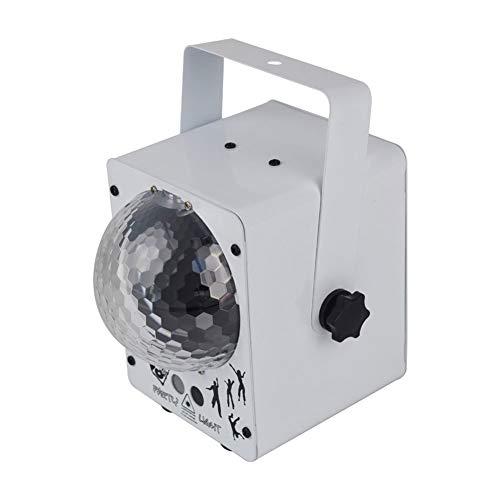 CHENGXI Party-Lichter-Ton aktivierte Strobe-Lampe mit Fernbedienung Disco-Kugel-Licht 7-Modi Bühnenscheinwerfer for Tanzparties Bar Karaoke Weihnachten Wedding Show-Club, 2 Farben (Color : White)
