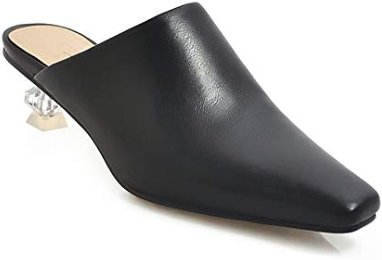 MENGLTX High Heels Sandalen 2019 Neue Ankunft Frauen Pumpt Feste Farben Sommer Kristall Heels Schuhe Slip On Komfortable Kleid Schuhe Frau Groe Gre 48