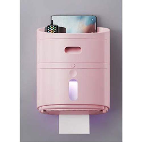 Toiletpapierhouder Zelfklevende muurbevestiging Waterdicht met opbergruimte Badkamer Opslag Organisatie Hotel Keukenpapier Dispenser Poeder