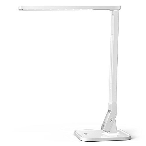 TaoTronics LED-Schreibtischlampe, 14 W, 5 dimmbar, 4 Modi, Steuerfeld, USB-Ladeanschluss für iPhone, iPad, Smartphone, Android-Tablet