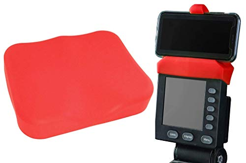 Vapor Fitness Red Phone Holder and Silicone Seat Cover Combo Designed for The Concept 2 Rowing Machine and PM5 Monitor