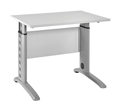 Möbelpartner Till Schreibtisch, lichtgrau, 90 cm breit