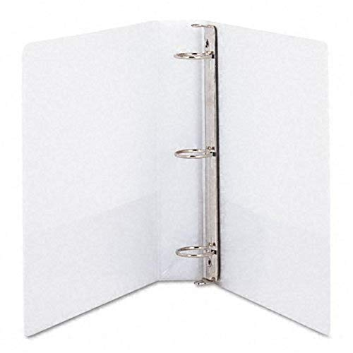 Samsill 1.5-Inch Antimicrobial Round Ring View Binder, White (18257)