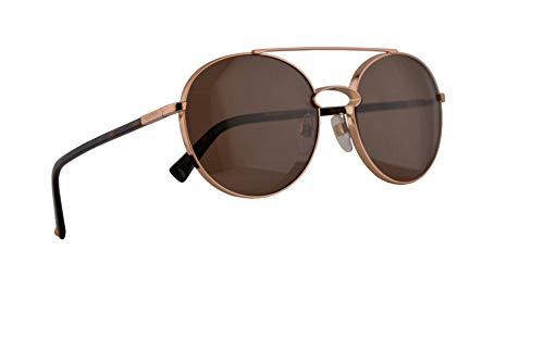 Valentino VA 2002 gafas de sol w / 55mm Lente de Brown 300473 VA2002S VA2002 / S VA2002 mujer Oro rosa Grande