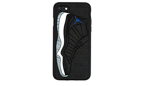 WeTheFounders Silicon Case for iPhone 7 8 X XS XR and Galaxy S10 Air Jordan 3D Textured Black Sneaker Phone Case Dual Layer Protection Scratch Proof Shock Proof (Galaxy S10)