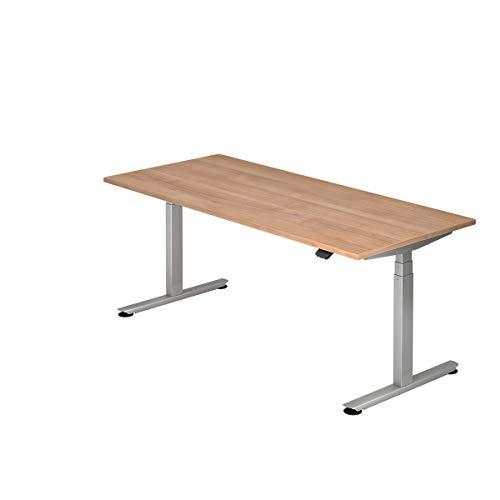 Hammerbacher Schreibtisch, elektrisch höhenverstellbar, Breite 1800 mm, Tischplatte Nussbaum | VXDLB19/N/S - Schreibtische höhenverstellbar desks height adjustable