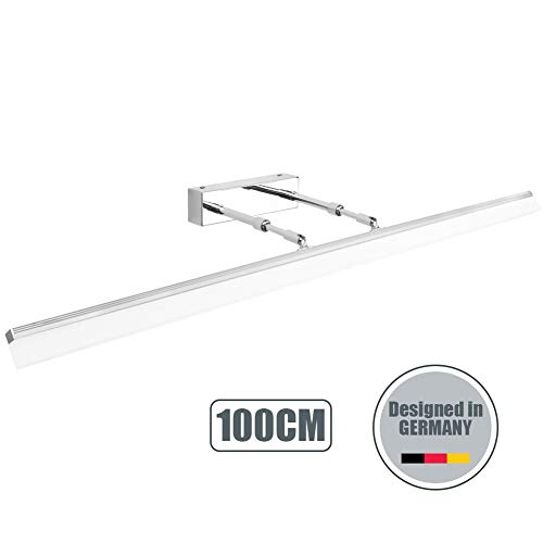 Klighten LED Spiegelleuchte 24W Badleuchte für Wandbeleuchtung und Badezimmer Schminklicht Wandleuchte Badlampe 5500K Weißlicht 100CM