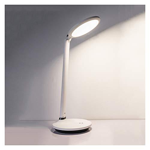 lámpara de mesita de noche Lámpara de escritorio LED de enchufe con 3 niveles de atenuación, lámpara de escritorio de control táctil con puerto de carga USB, lámpara de aprendizaje de luz natural 4000