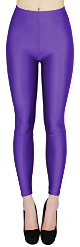 dy_mode Glanz Leggings Damen Bunte Tanz Leggings glänzende Leggins Shiny One Size - JL116 (One Size - geeignet für Gr.36-38,...
