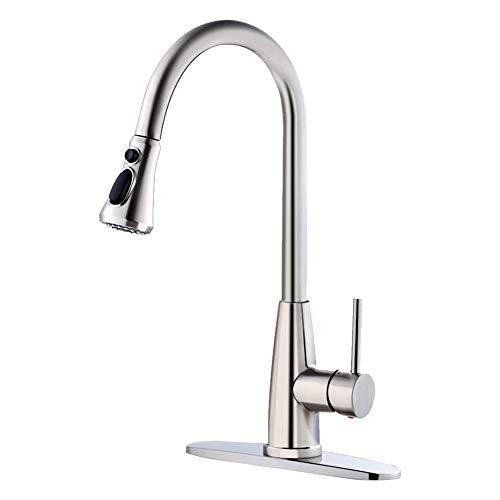 Haushaltsküchenhahn,Kitchen Sink-Hahn Mit Dem Pull-Down-Sprayer, 3-Funktion Rotary Pull-Hahn-Badezimmer-Hahn, Einhand-Pull Out Küchenarmatur