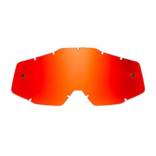 SeeCle SE-41S257-HZ lentes de repuesto para máscaras rojo espejado compatible para màscara 100% Racecraft/Strata/Accuri/Mercury