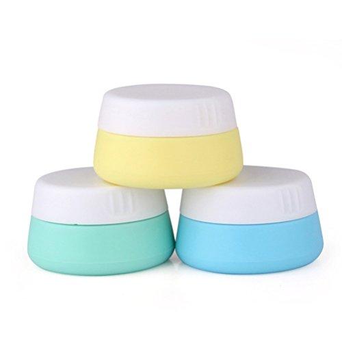 frcolor Pack de 3 Voyage cosmétique Récipient Verre, 20 ml plastique crème Récipient en verre pour le visage corps