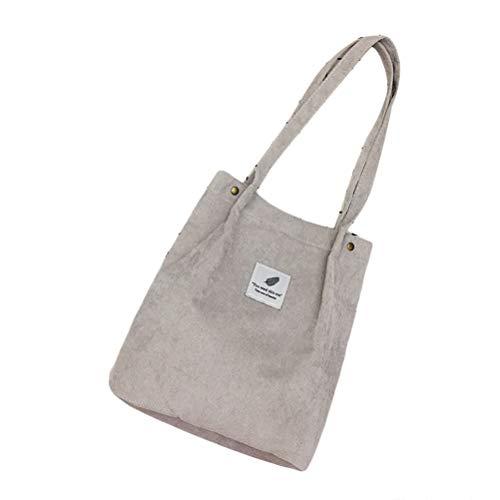 Frauen Cord Handtasche Schultertasche Tote Geldbörse Lässig Einkaufstasche Mode Große Kapazität Umhängetasche 28 * 33 * 12cm