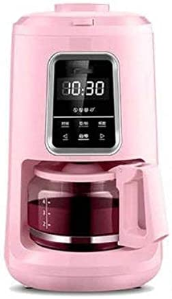 Kylinxsw Automatic Coffee Machine 92 °C Constant Temperature Extraction LED Clock Timekeeping Small Drip Type Office Machine Suitable for Home Office (Color : Pink)