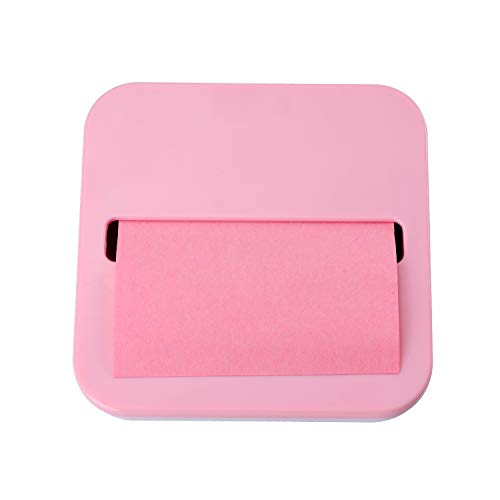 Toosell Sticky Note Dispenser for 1 Pack 3 Inches x 3 Inches Holder Set Designed to Work with Self-Stick Notes (Pink)