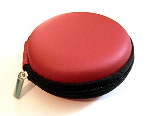 Red Carrying Case Compatible with Misfit Shine Activity Monitor Holder Pouch Hold Box Pocket Size Hard Hold Protection