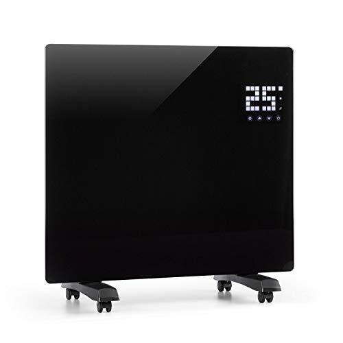 KLARSTEIN Bornholm Single Smart - Calefactor, Pantalla LED, Panel táctil, programable, Control por App, 2 Niveles: 500 y 1000 W, termostato 5-45°C, regulador de Temperatura, Modo Eco, Negro