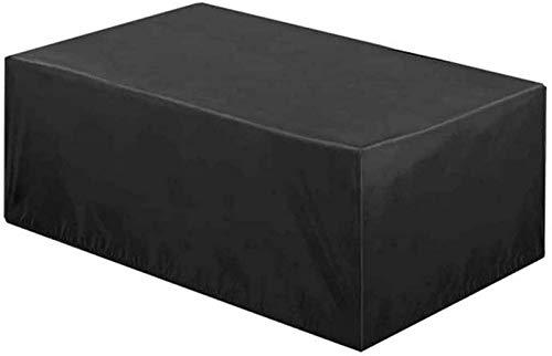 Fundas para Muebles de jardín rectangulares 135x135x75cm, Fundas Impermeables para sillas y mesas de Patio, Funda Protectora para Muebles de Exterior Resistente al Viento 420D para sofá