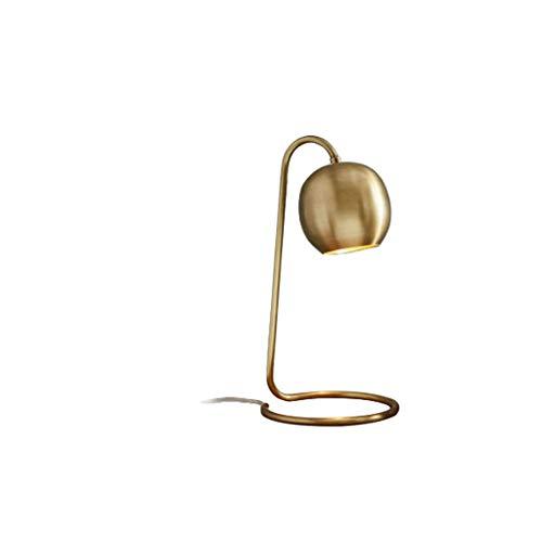 MLZWS Lámpara de Mesa Retro chapada en Cobre nórdico Moderno lámpara de Mesa de decoración artística Lectura Simple LED Aprendizaje cafetería Restaurante