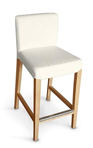 Dekoria Henriksdal Husse für Barhocker Husse Stuhlbezug,Stuhlkissen passend für IKEA Modell Henriksdal Ecru