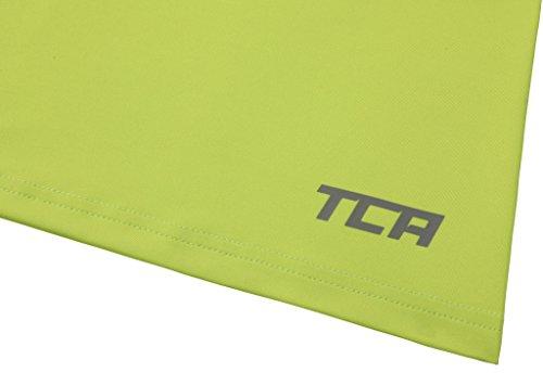 TCA Superthermal Quickdry Damen Laufshirt/Funktionsshirt mit Rundhalsausschnitt – Limettengrün, M - 6